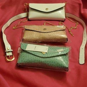 Belt Bag Fanny Pack Purse w/chain Shoulder Strap